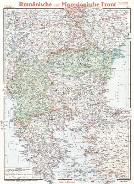 Harta Teatrului De Război Romania Si Macedonia De Verlag Und