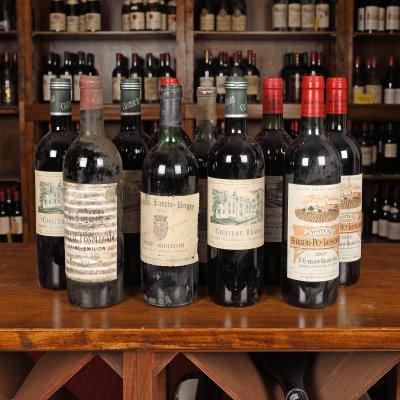 Selecție de vinuri Saint-Émilion Grand Cru Classé, 1974-2003, 11st x 0,75l