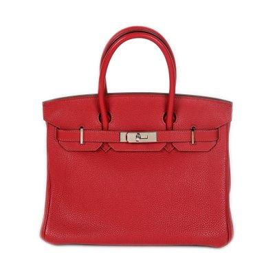 """""""Birkin 40"""" - geantă Hermès, din piele Togo, de culoare Rouge Casaque"""